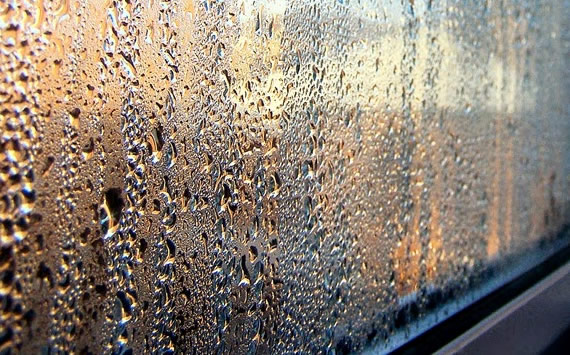 Fogginess caused by condensation in double glazing